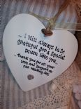 Shabby Personalised Chic Hanging Heart Gift Mother Of The Bride Any Name..